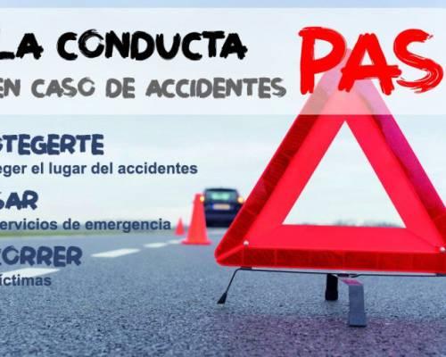 Recorden aplicar sempre la conducta PAS (protegir, avisar i socórrer) en cas d'accident de trànsit